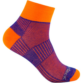 Wrightsock Coolmesh II Quarter Socks Royal-Orange